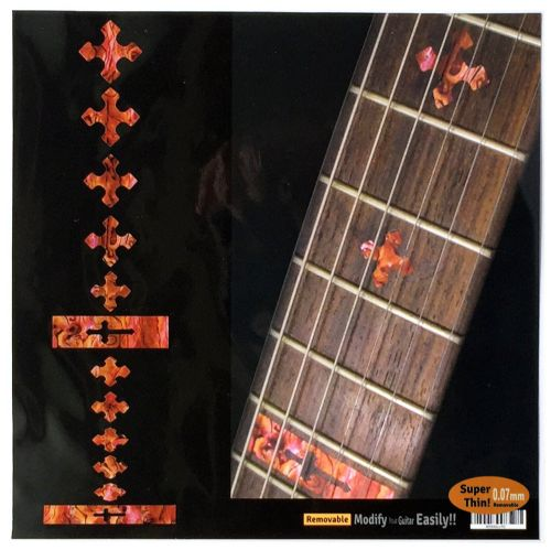 Dots Abalone Red Guitar Fret board Markers Inlay stickers 20pc